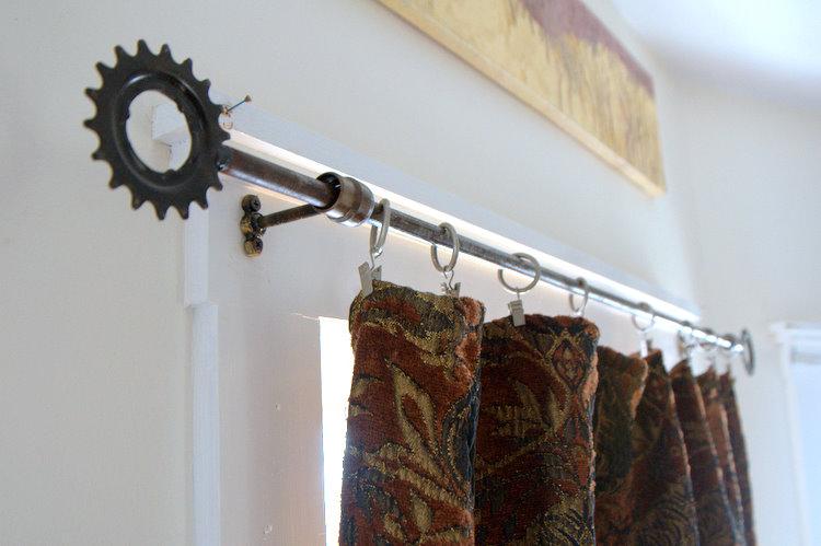 Curtain Pole Support Curtain Design